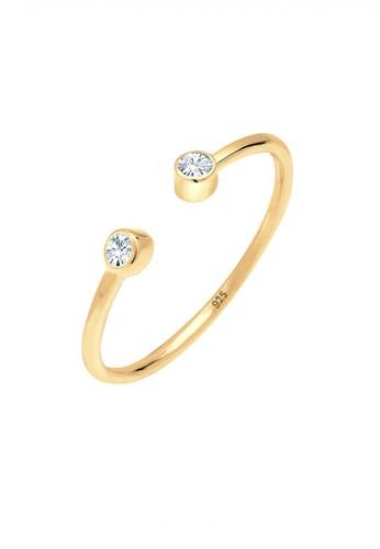 Elli Germany gold Perhiasan Wanita Perak Asli - Silver Cincin Statement Crystal Gold Plated BBC7DACFD8FCC8GS_1