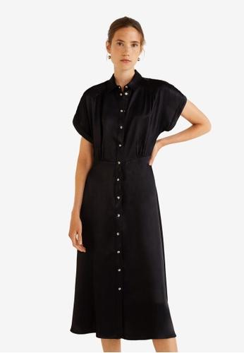 Mango black Satin Dress 8C1F2AA4BCD9FFGS_1