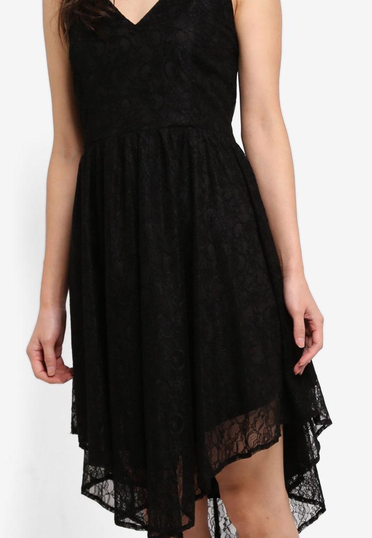 Preen Proper Lace Back amp; Cross Black Dress qCAHZRnWxw