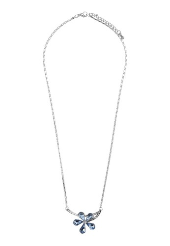 Edelweiss esprit官網閃鑽花飾吊墜項鍊, 飾品配件, 項鍊
