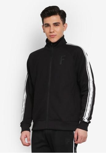 FILA black Heritage Knit Zip Jacket AB1AEAA58CA575GS_1