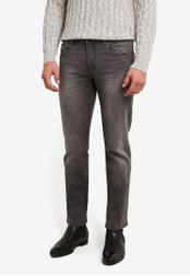 Indicode Jeans grey Pittsburgh Skinny Fit Stone Washed Jeans IN815AA0ROM3MY_1