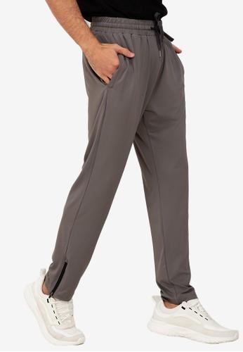 ZALORA ACTIVE grey Zip Hem Track Pants AB475AADD999CAGS_1