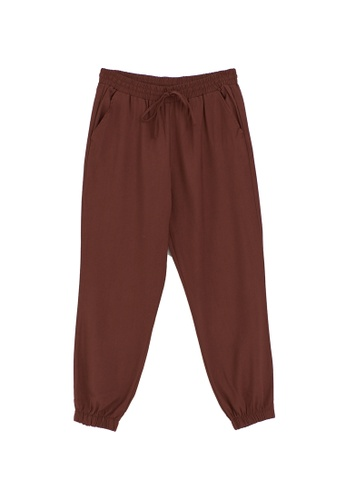 LC Waikiki brown Ankle Length Jogger Trousers 561E4AAB992CC4GS_1