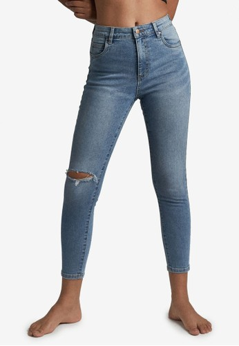 Cotton On blue High Rise Cropped Skinny Jean 09AD3AAA778281GS_1