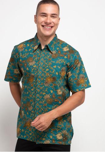 ARJUNA WEDA green Hem Batik Bunga Kantil B62EAAA3108B1EGS_1