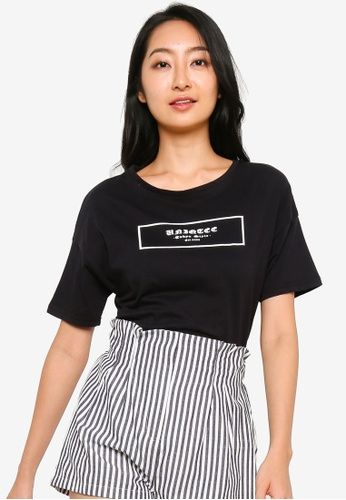 UniqTee black Uniqtee Tokyo Style T-Shirt in Black 02A0AAA0CE5AFDGS_1