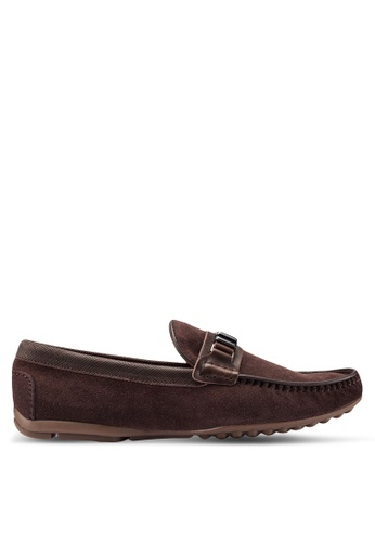 Carlton London brown Slip On Loafers 5A995SHD7AC7B1GS_1