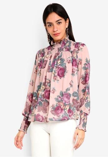 Vero Moda pink Gina Smock Top 7971FAA6FE00B8GS_1