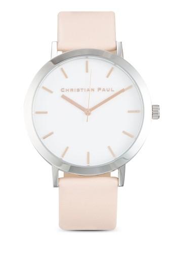 Resprit outlet 台中aw  43mm 圓框皮革手錶, 錶類, 飾品配件