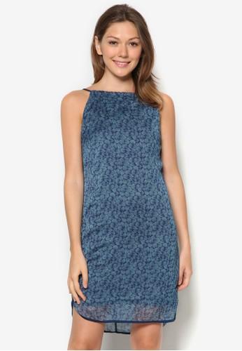 esprit hk印花細肩帶直筒連身裙, 服飾, 夏日洋裝