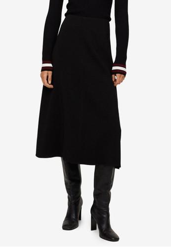 Mango black Flared Midi Skirt 25BFBAA9071DCCGS_1