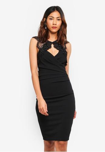 Lipsy black Embellished Lace Keyhole Bodycon Dress ECDA2AAF15E6EAGS_1