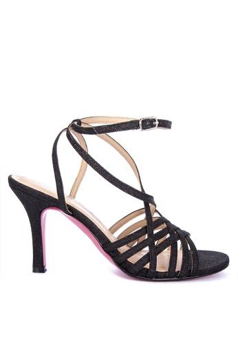 80a921ae1c08cc Shop CARMELLETES Glittery Fabric Heeled Sandals High Heels Online on ZALORA  Philippines