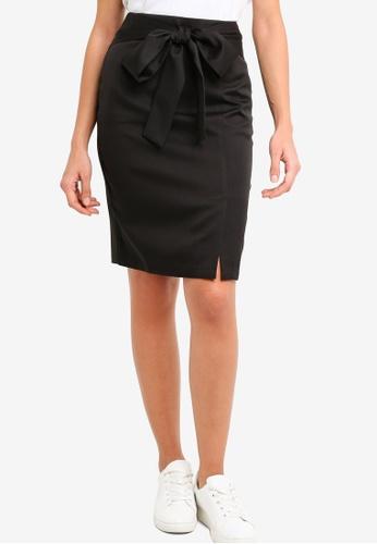 ZALORA black Self Tie Skirt 914BAAA34109A8GS_1