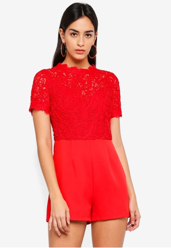 c2930f5080 Buy MISSGUIDED Cornelli Lace Playsuit