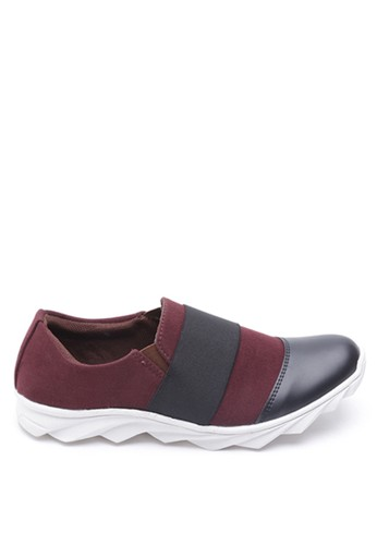 Dr. Kevin red Dr. Kevin Men Casual Shoes Slip On 13243 - Maroon/Black DR982SH13LZYID_1