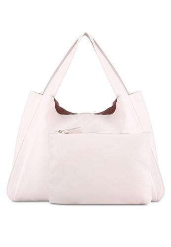ZALORA pink Large Hobo Bag B2EB1ZZ0FB0BDDGS_1