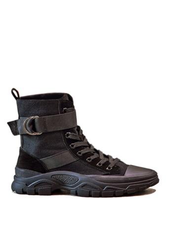 Twenty Eight Shoes 黑色 時尚豬巴皮中筒靴 VB19066 6E63ASH68DB67BGS_1