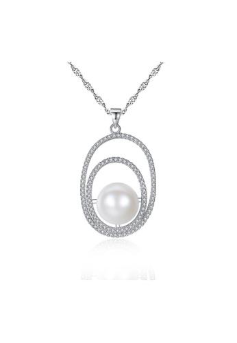 SUNRAIS silver Premium Color Stone Silver Simple Design Necklace E1545AC257F2DEGS_1