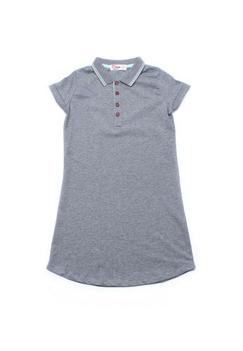 Mini Moley grey Twin Tipped Girl's Polo Shift Dress E1488KA335422FGS_1