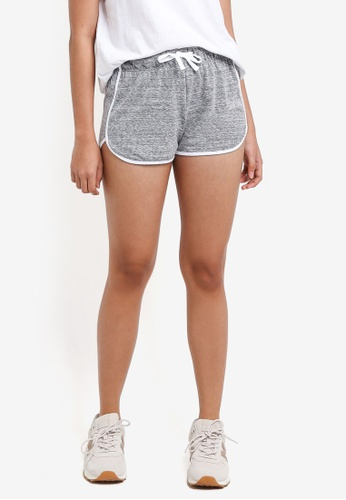 TOPSHOP grey Sporty Solid Runner Shorts 5F441AAD024B45GS_1