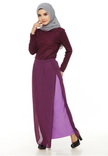 Emanuel Femme purple Emanuel Two-sided Split Maxi Skirt 0C856AA99CA6A1GS_1