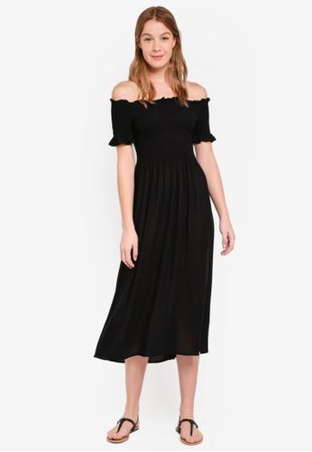 OVS black Bardot Dress 678E4AA405E72AGS_1