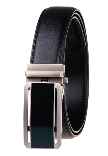 FANYU black Leather Dress Belt With Automatic Buckle belt 1CB8FAC901AB04GS_1