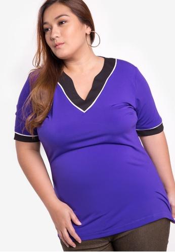 Multiples purple Bianca Plus Size Blouse MU055AA45PLIPH_1