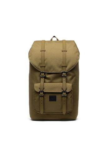Herschel brown Herschel Unisex Little America Backpack Khaki Green- 25L B1129AC24E8148GS_1