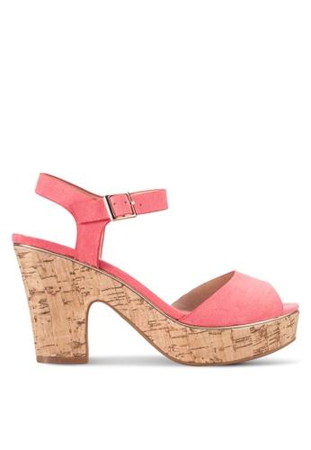 Dorothy Perkins pink Pink 'Romana' Platform Sandals DO816SH93QWWMY_1