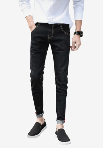 hk-ehunter black Denim Jeans for Men 27BD1AA330951AGS_1