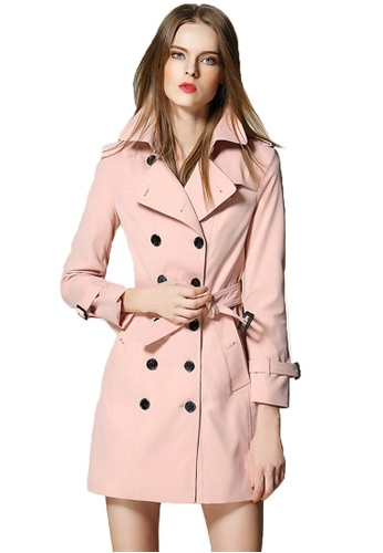 Sunnydaysweety pink F/W New Double-Breasted Women Trench Coat A103001PI 09990AA59470A0GS_1