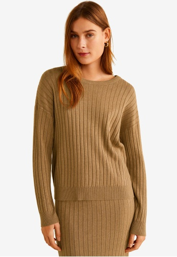 1384a9d5cbaec Shop MANGO Ribbed Knit Sweater Online on ZALORA Philippines