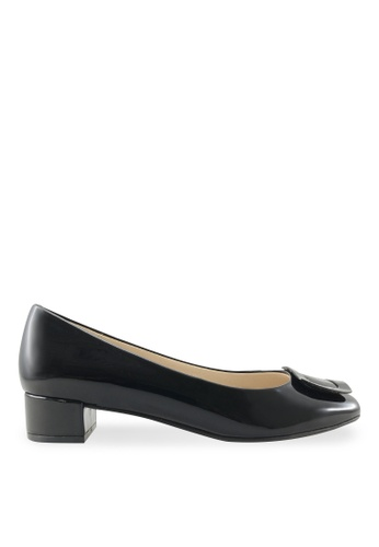 Footspot black FOOTSPOT – Square Toe Block Heel Shoes With Buckle FO296SH2UVPJHK_1