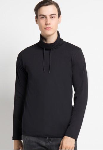 Cressida black Sweatshirt Long Tee Black CR235AA10SSBID_1