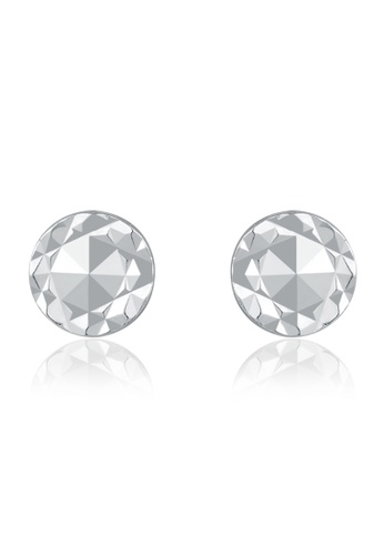 MaBelle silver 14K/585 White Color Gold Gold Circle Earrings 3DE04AC2D1FB47GS_1