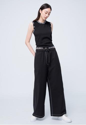 iROO black Sporty Trousers 9F391AA1099297GS_1