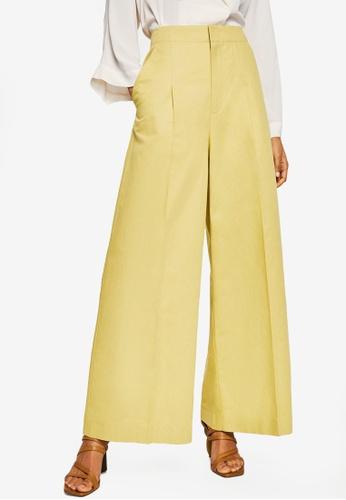 Mango yellow High-Waist Palazzo Trousers BC9F2AA7B67214GS_1