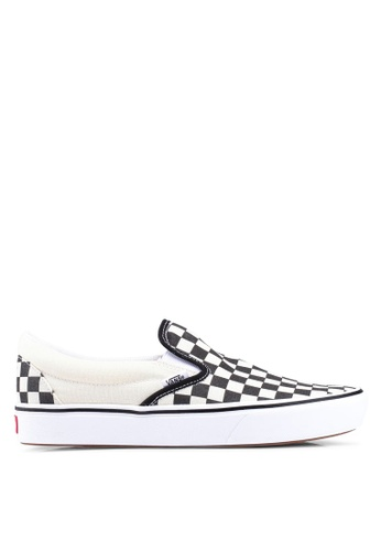 a87a74cd98e VANS black and white ComfyCush Classic Slip-Ons 2D584SHD425A3DGS 1. CLICK TO  ZOOM