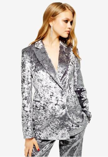 fd0894323824 Buy TOPSHOP Bonded Velvet Jacket Online on ZALORA Singapore