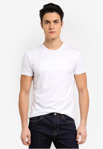 Calvin Klein white Applique Crew Neck Short Sleeve T-Shirt - Calvin Klein Jeans E8112AA525AFA7GS_1