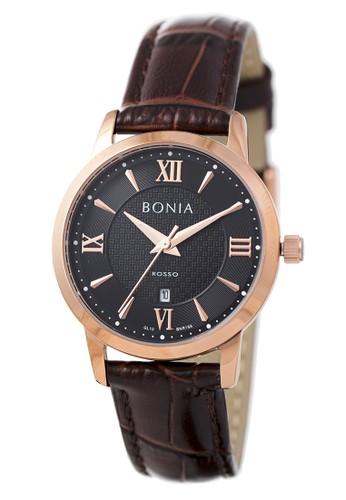 Bonia brown Bonia Rosso - BR166-2533 - Jam Tangan Wanita - Brown Rosegold D4267AC2C6064CGS_1