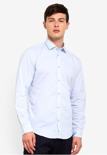ESPRIT 藍色 長袖襯衫 4B06FAA978211DGS_1