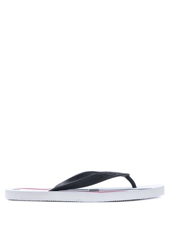 BENCH white Printed Rubber Slippers BE550SH03MBKPH_1