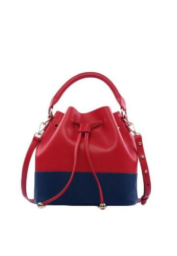 LIVLOLA red and blue City Bucket Bag LI657AC43IWEMY_1
