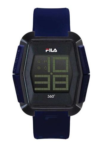 FILA Watches navy Fila Digital Navy Rubber Watch 297CAACBB39B8DGS_1