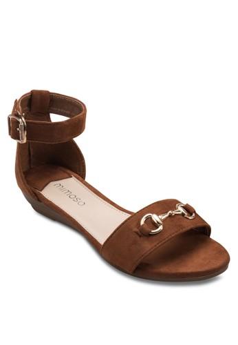 扣環低跟楔型跟涼鞋,esprit tsim sha tsui 女鞋, 楔形涼鞋