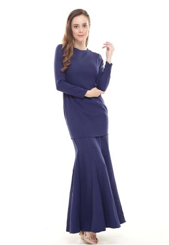 Rina Kurung in Navy from Rina Nichie Basic in Blue